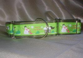Merry Christmas-olivgrün, Martingale 4 cm