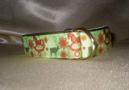 Nostalgie Weihnachten-olivgrün, Zugstopp 2,5 cm