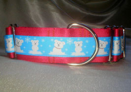 Little Icebears-rot, Martingale 4 cm