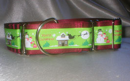 Merry Christmas-weinrot, Martingale 4 cm