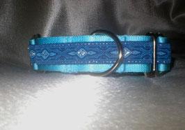 Eiskristall-eisblau, Martingale 2,5 cm