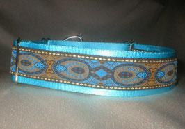 Blue-peacock-eisblau, Martingale 4 cm