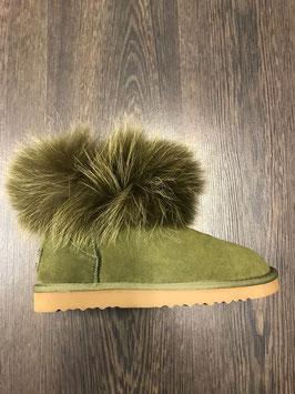 Fur Boots Khaki - Khaki