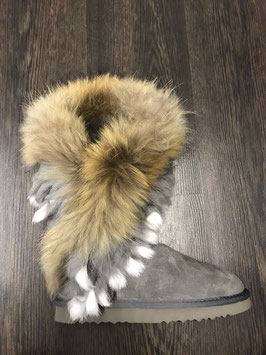 Fur Eagle Boots Grau