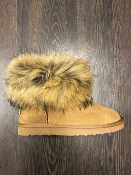 Fur Boots Beige - Natur