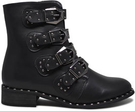Gigi Black Studded Boots LBS2906
