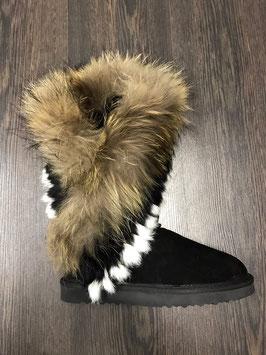 Fur Eagle Boots Schwarz