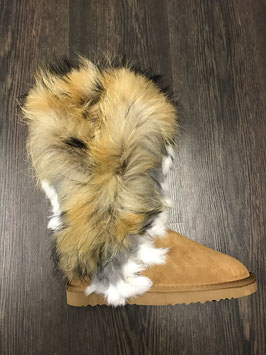 Fur Eagle Boots Beige
