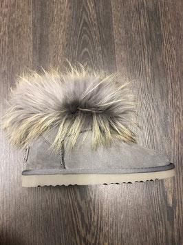 Fur Boots Grau - Grau