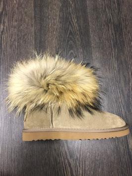Fur Boots Khaki - Natur