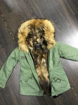 Lux Fur Lining Parka Khaki