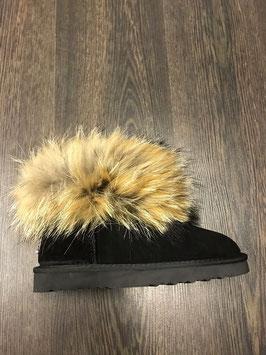 Fur Boots Schwarz - Natur