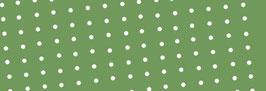 Schrägband grün mit weißen Punkten