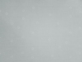 Leinenband silbergrau mit weißen Sternen (10cm)