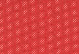 Capri, rot mit kl. weißen Punkten