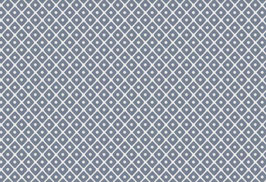 Kyoto, weiß-mattblau mit Rauten