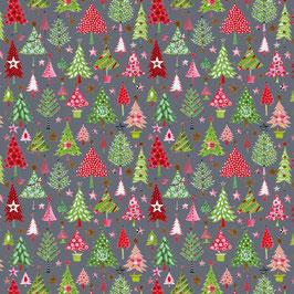 Baumwollstoff Weihnachtstannen