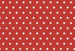 Capri, rot mit weißen Sternen