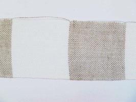 Leinenband natur - gebleicht gestreift (3cm)