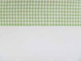 Leinenband gebleicht mit grün karierten Rand (17cm)