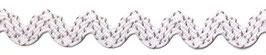Zackenlitze Polyester weiß-natur (12mm)