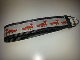 Schlüsselband - braun mit Fuchs