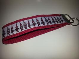 Schlüsselband - rot mit Wichtel