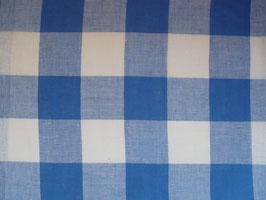 Leinenband blau - gebleicht kariert (34cm)