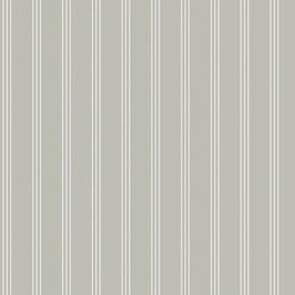 Baumwollstoff Streifen taupegrün-weiß