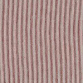 Halbleinen natur-rot kleine Streifen