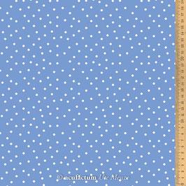 Baumwollstoff Tupfen groß blau-weiß