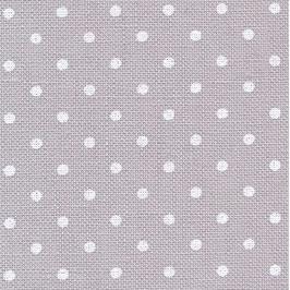 Leinen (12f) silbergrau mit weißen Punkten