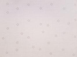 Leinenband gebleicht mit naturfarbenden Sternen (10cm)