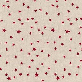 Halbleinen natur mit roten Sternen