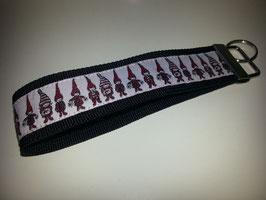 Schlüsselband - schwarz mit Wichtel