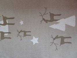 Leinenband natur - Hirsch & Bäume (34cm)