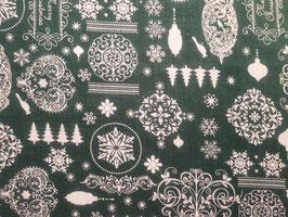 Weihnachtsornamente grün