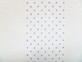 Leinenband gebleicht mit blauen Punkten (10cm)