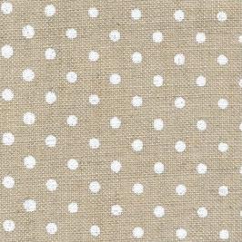Leinen (12f) natur mit weißen Punkten