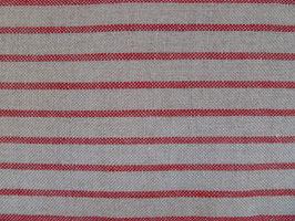 Leinenband rot - natur quer gestreift (12cm)