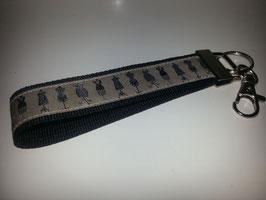 Schlüsselband - schwarz mit Schneiderpuppe