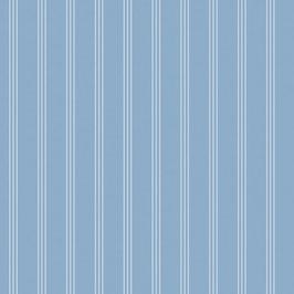 Baumwollstoff Streifen graublau-weiß