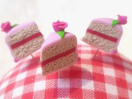 Stecknadel Torte - Rose rosa
