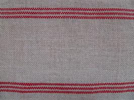 Leinenbandschlauch natur-rot (10cm)