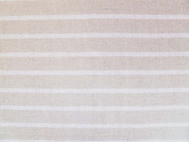 Leinenband natur - gebleicht gestreift (20cm)