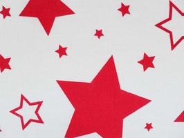 Leinenband gebleicht mit roten Sterne (20cm)