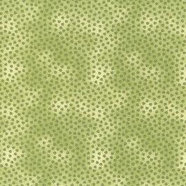Patchworkstoff grün mit Herzen