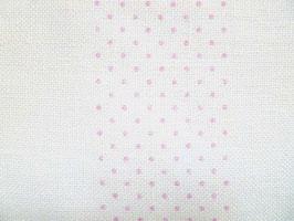 Leinenband gebleicht mit rosa Punkten (10cm)
