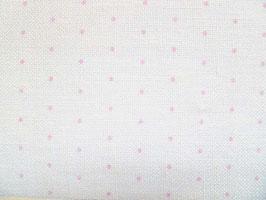 Leinenband gebleicht mit rosa Punkten (20cm)
