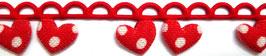 Rote Herzen mit weißen Punkten